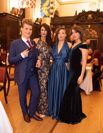 Countess Diamond at the Femdom Ball with Mistress Evilyne, Ria Harpsichord and Pussy Willow